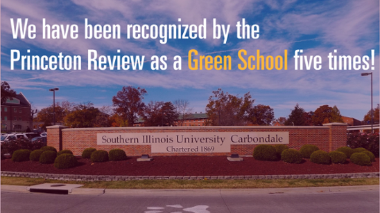 We have been recognized by the Princeton Review as a Green School five times!