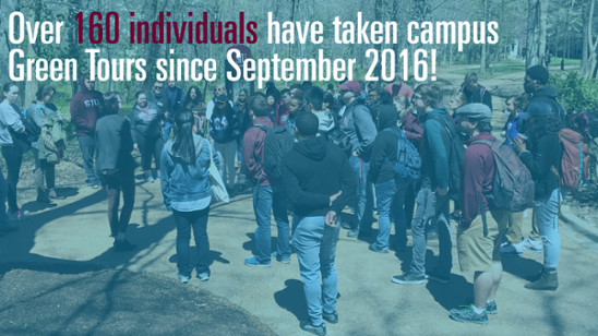 Over 160 individuals have taken campus Green Tours since September 2016!