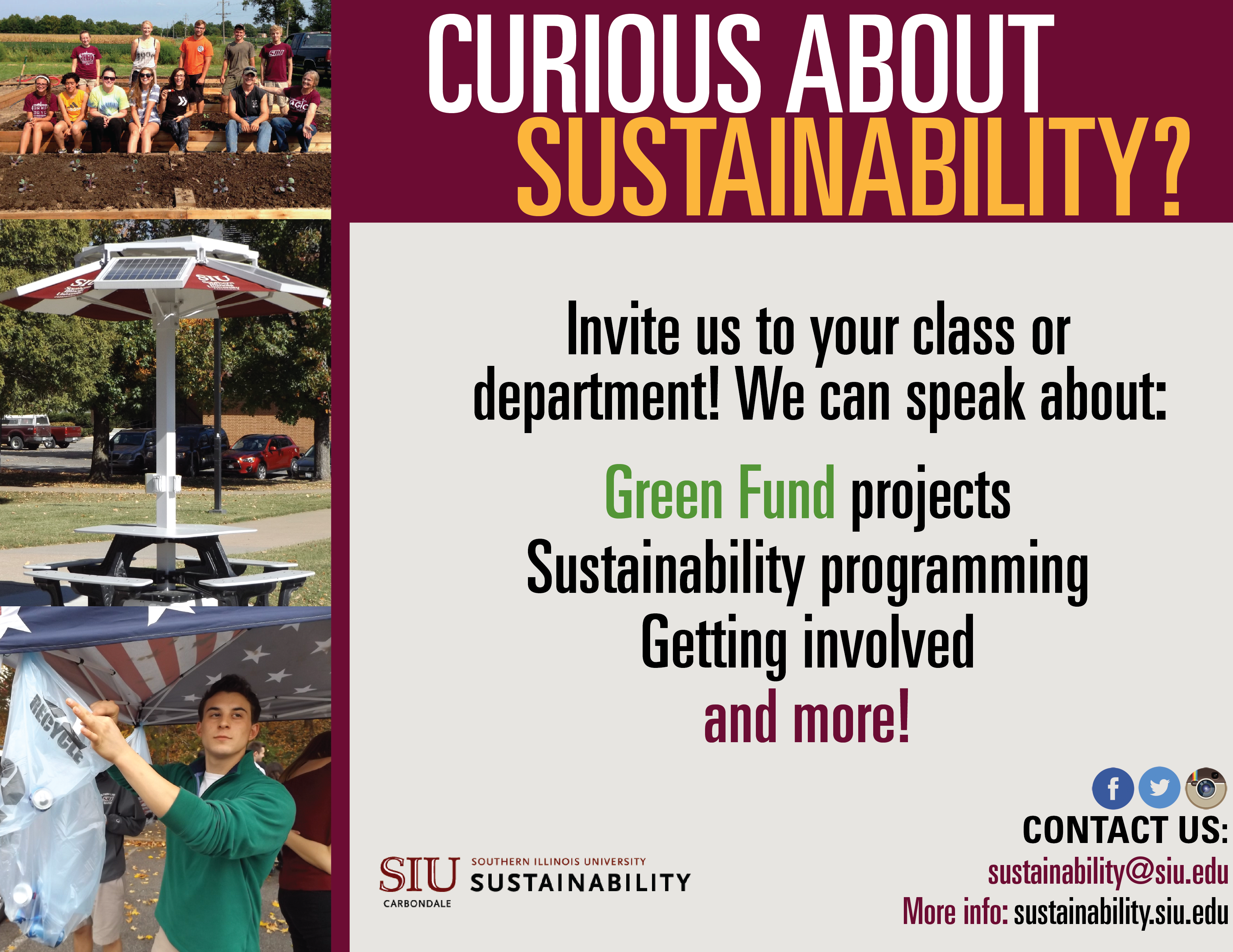 SIU Sustainability Outreach Poster
