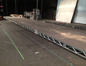 The new Steeldeck stage system purchased with Green Fund