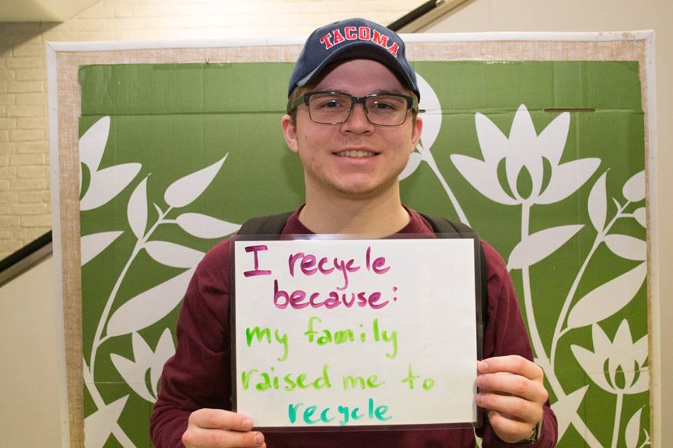 """I recycle because my family raised me to recycle"""