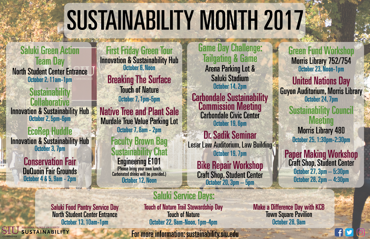 sustainability month calender